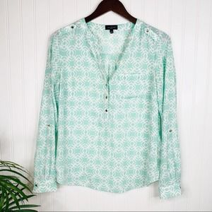 BOGO The Limited Mint Geometric Blouse Small